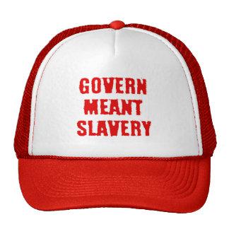 Régissez l'esclavage signifié casquette de camionneur