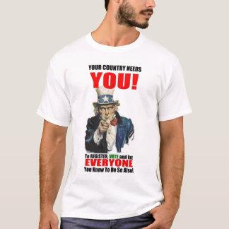 Registre au vote, 2008 t-shirt