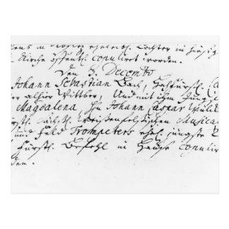 Registre du mariage de Bach à Anna Carte Postale