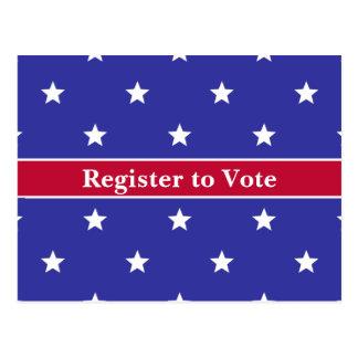 Registre patriotique pour voter des cartes