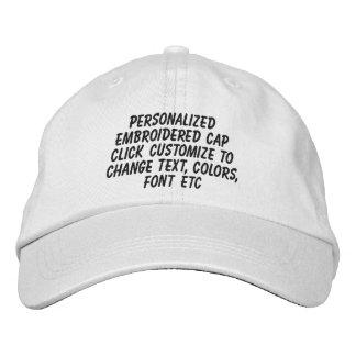 Réglables personnalisés le font vous-même casquette brodée