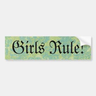 Règle affligée de filles de damassé ! autocollant de voiture