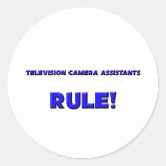 Règle d'assistants de caméra de télévision ! adhésif rond