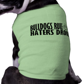 Règle de bouledogues tee-shirts pour chien
