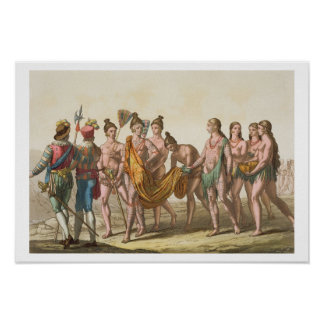 Règle de Caciche accompagnée de ses épouses (coule Posters