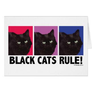 RÈGLE de chats noirs ! Carte vierge