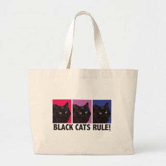 RÈGLE de chats noirs ! Sac fourre-tout enorme