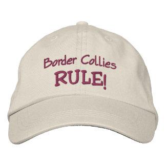 Règle de colleys de frontière mignonne casquette brodée