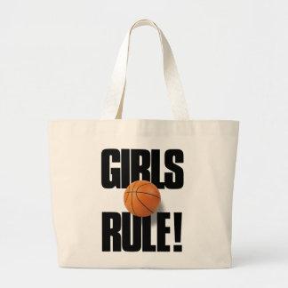 RÈGLE DE FILLES ! Basket-ball Sac En Toile Jumbo