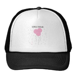 Règle de filles casquettes