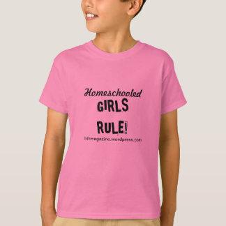 Règle de filles de Homeschooled ! De T-shirt