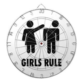 Règle de filles jeux de fléchettes