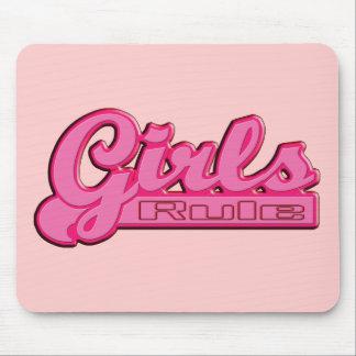 Règle de filles tapis de souris