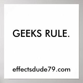 RÈGLE DE GEEKS. effectsdude79.com Poster