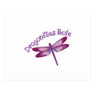 Règle de libellules carte postale