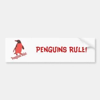 Règle de pingouins ! autocollant pour voiture