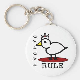 Règle de poussins porte-clés