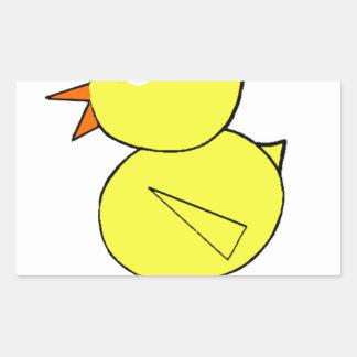 Règle de poussins sticker rectangulaire