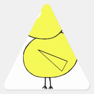 Règle de poussins sticker triangulaire