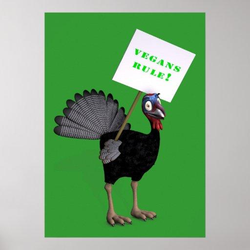 Règle de végétaliens ! poster