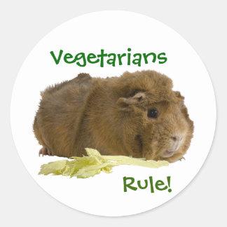 Règle de végétariens ! sticker rond