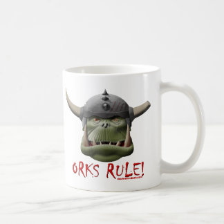 Règle d'Orks ! Mug Blanc