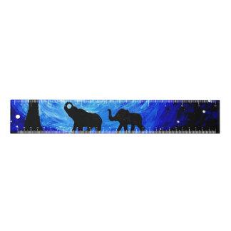 Règle Éléphants sous le clair de lune (art de