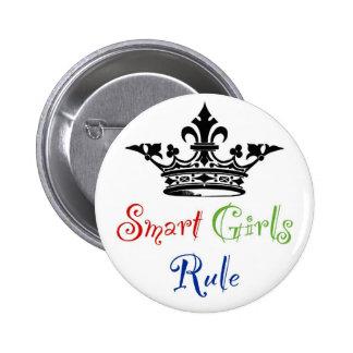 Règle futée de filles… avec la couronne badge rond 5 cm