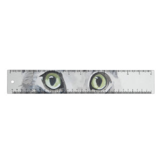 Règle Les plots réflectorisés verts - chat tigré - art