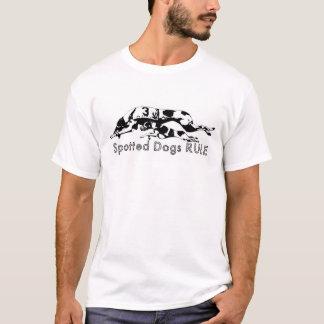 RÈGLE repérée de chiens T-shirt