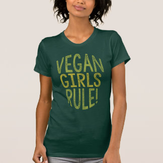 Règle végétalienne de filles ! T-shirt