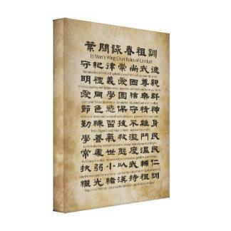 Règles de Chun de l'aile de l'homme d'IP de Toiles