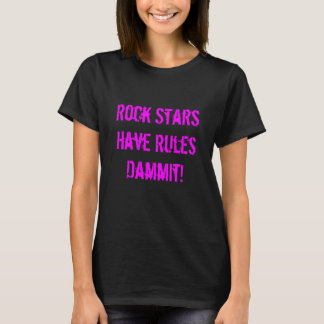 Règles du T-shirt des femmes de vedettes du rock