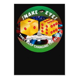 règles Matrice-changeantes 1R Carton D'invitation 12,7 Cm X 17,78 Cm