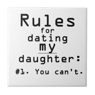 Règles pour dater ma fille petit carreau carré