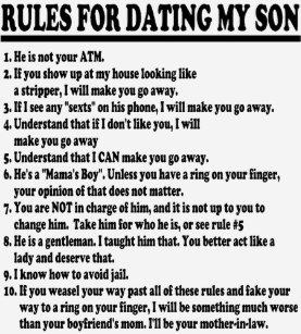 règles pour la datation des mères célibataires