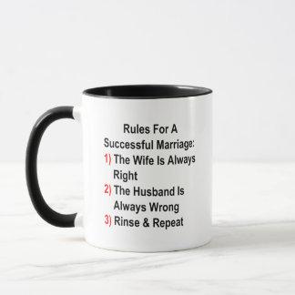 Règles pour un mariage réussi mugs