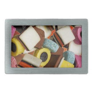 Réglisse tous les bonbons à sortes boucles de ceinture rectangulaires