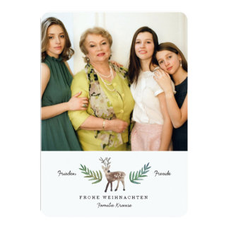 Reh Weihnachtskarte Carton D'invitation 12,7 Cm X 17,78 Cm