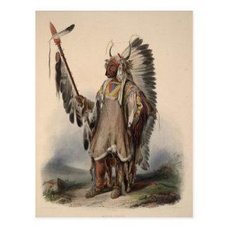 Réimpression en chef indigène du 19ème siècle carte postale