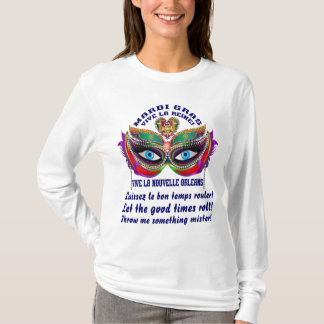 Reine 5 de mardi gras eue connaissance de la t-shirt