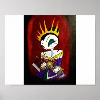 Reine d'affiche des coeurs brisés par Kenyon Poster