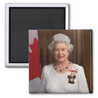Reine d'Angleterre d'Elizabeth II Magnet Carré