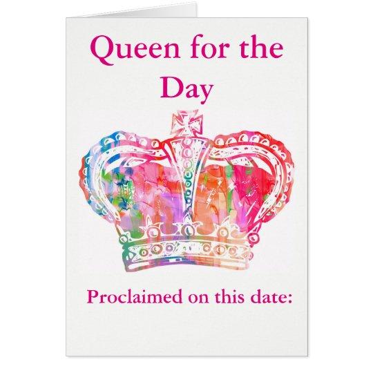 Reine d'anniversaire carte de vœux
