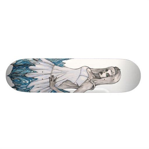 Reine de blanc de neige skateboards personnalisés
