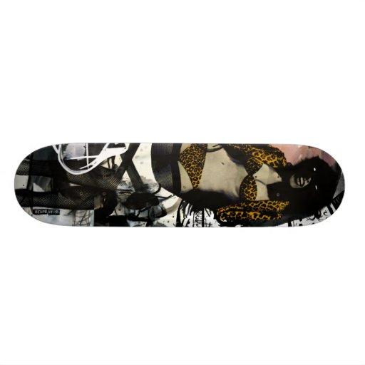 Reine de jungle planches à roulettes customisées
