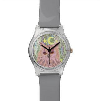 Reine de la montre Girly du hibou May28th de nuit Montres Bracelet