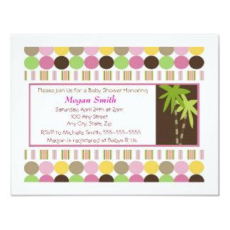 Reine de l'invitation de baby shower de jungle carton d'invitation 10,79 cm x 13,97 cm