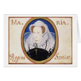 Reine de Mary des Ecossais (1542-87) (gouache sur Carte De Vœux