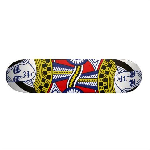 Reine de planche à roulettes de coeurs skateboard customisable